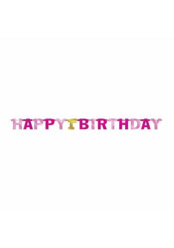 Letter Banner 1st Birthday Pink