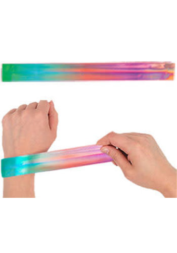 Klaparmband regenboog - 4 stuks