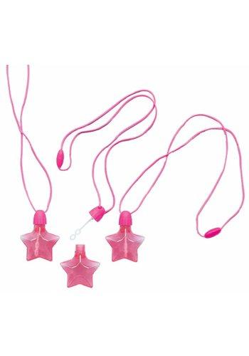 Bellenblaas ster met koord - 4 stuks