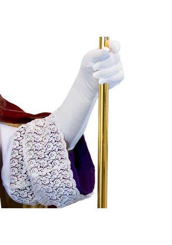 Sinthandschoenen stretch wit luxe nylon 50 cm - XXL