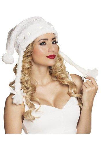 Kerstmuts Snow met vlechten