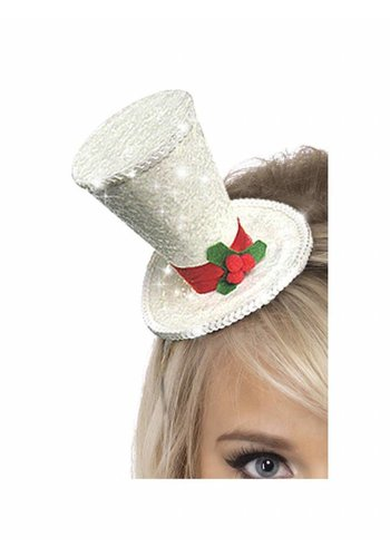 Mini Top Hat - White
