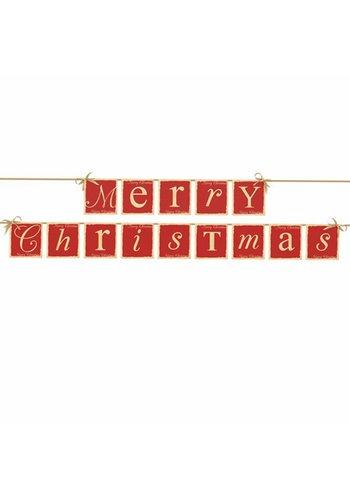 Vlaggenlijn Merry Christmas - 14,5 x 220 cm