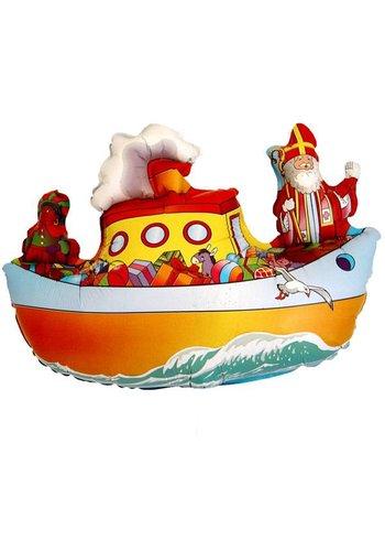 Folieballon Sinterklaas Pakjesboot - 90x60cm