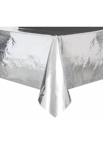 Zilver folie Tafelkleed - 137x274cm