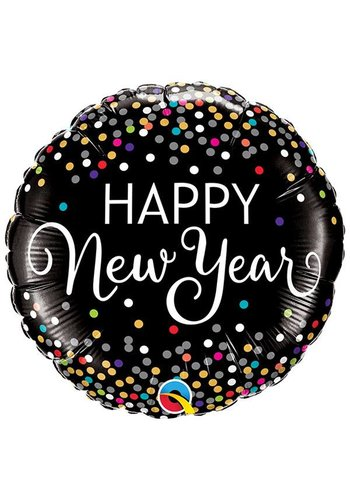 Folieballon New Year Confetti - 45cm
