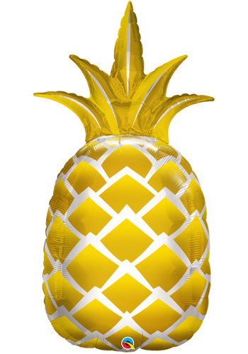 Folieballon Golden Ananas -  43x89cm