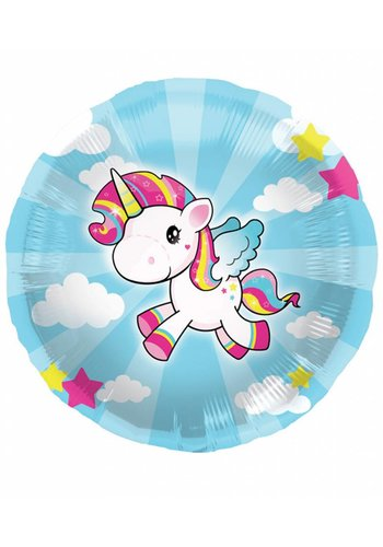 Unicorn folieballon - 45cm