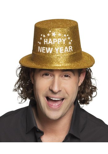 Hoed Glitter Goud - Happy New Year