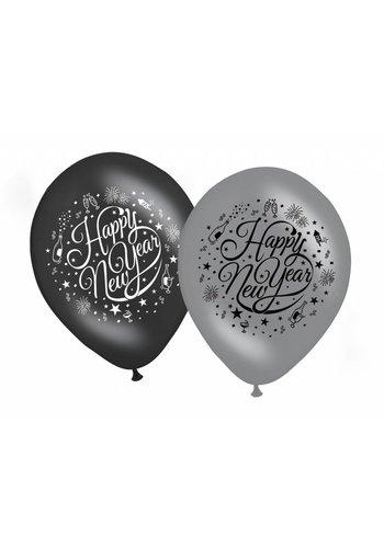 Ballonnen - Happy New Year - 30cm - 8 st