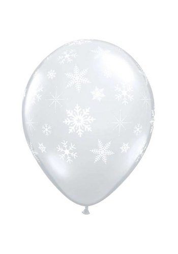 "11"" Snowflakes A-Round - Transparant (28cm)"
