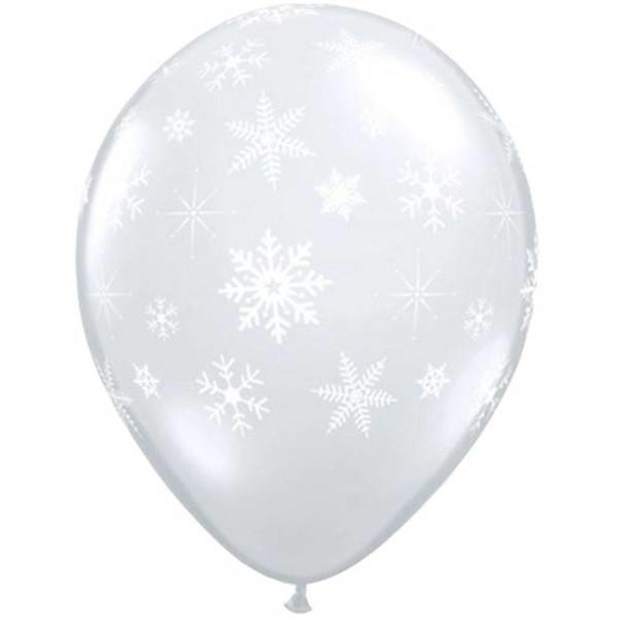 "11"" Snowflakes A-Round - Transparant (28cm)-1"