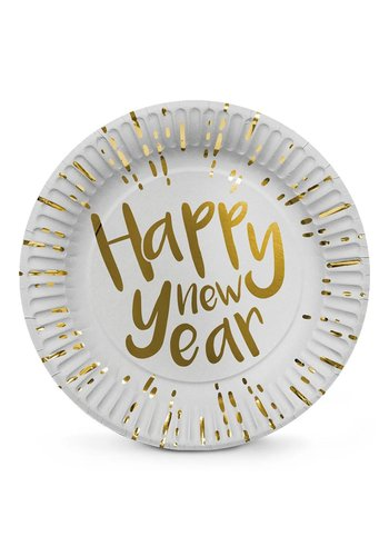 Bordjes - Happy New Year - 23cm - 6 st