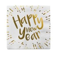 Servetten - Happy New Year - 33x33cm - 12 st