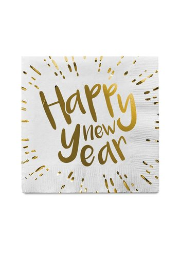 Servetten - Happy New Year - 33x33cm - 12 st