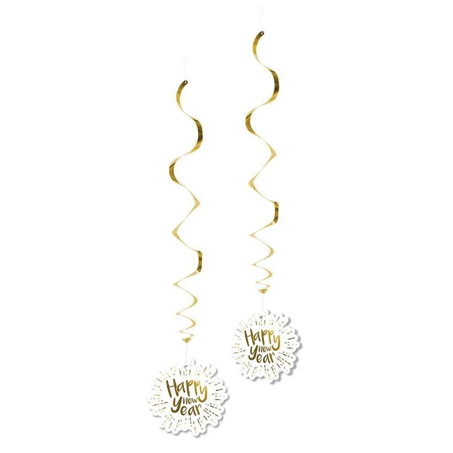 Decoratieswirls - Happy New Year - 85 cm - 2 st-1