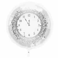 Folieballon Oud & Nieuw klok - 45cm