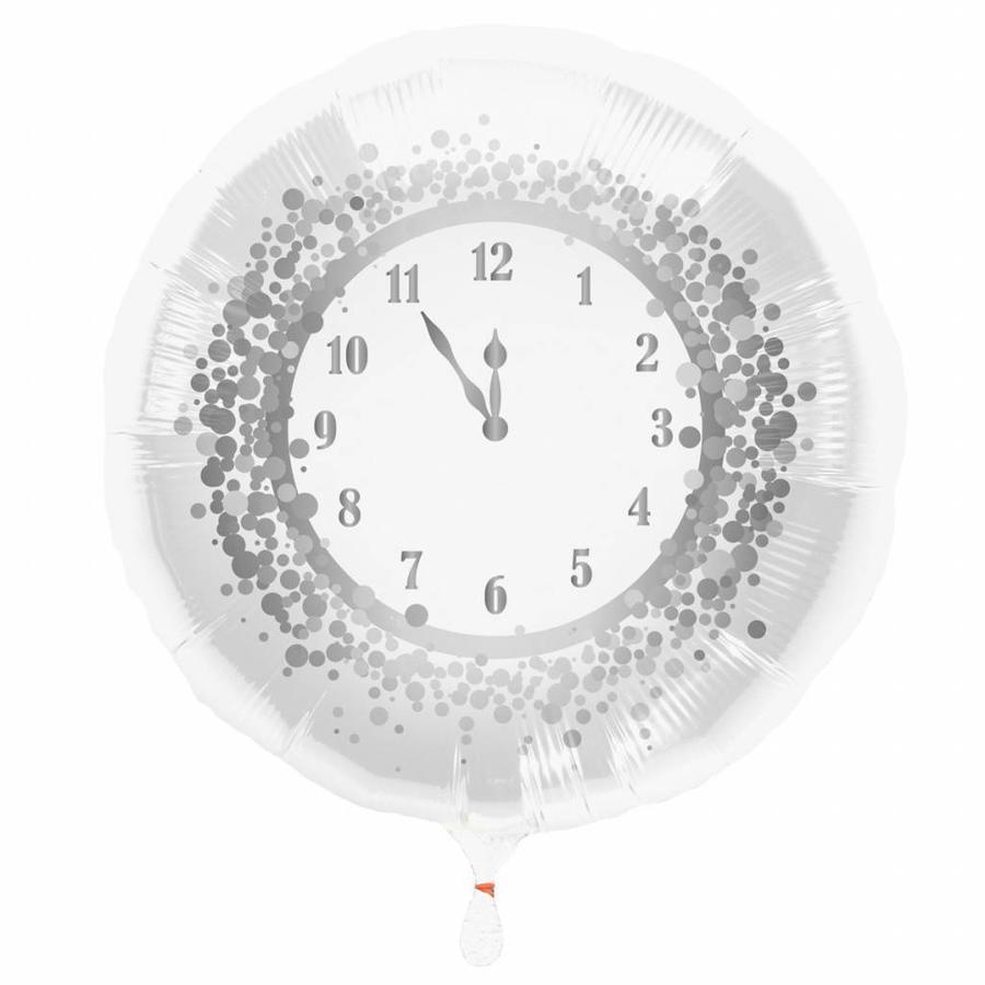 Folieballon Oud & Nieuw klok - 45cm-1