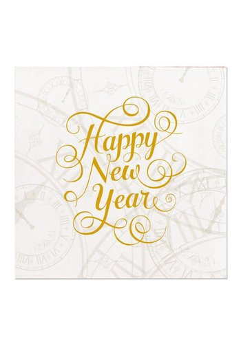 Servetten - Happy New Year 25x25cm- 16 st