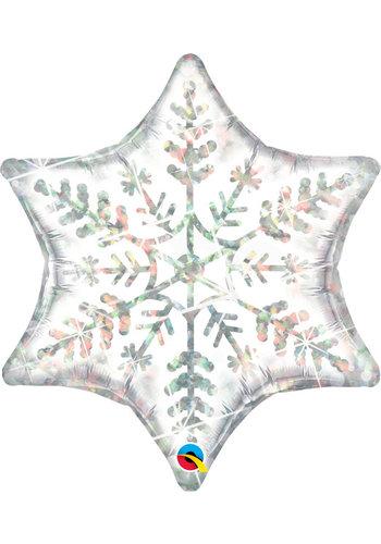 Folieballon Dazzling Snowflake -  74x81cm