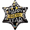 Folieballon Star New Year confetti - 55cm