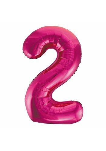 Folieballon 2 Pink - 92cm