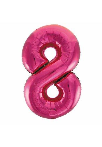 Folieballon 8 Pink - 92cm