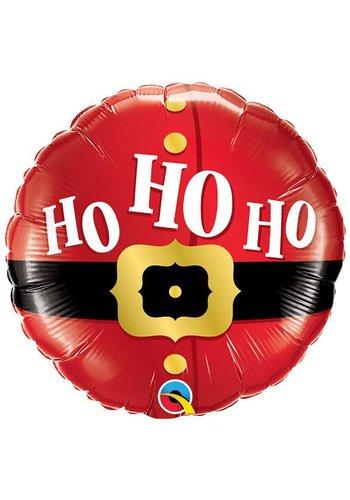 Folieballon Ho Ho Ho Kerstman - 45cm