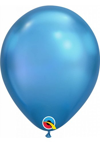 Heliumballon Blue Chrome (28cm)