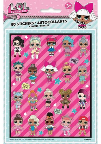 LOL Surprise Stickervel - 4 stuks