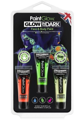 Set glow in the dark face & body paint