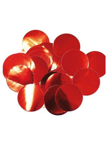 Confetti metaalfolie - Rood - 14 gr - Ø25 mm