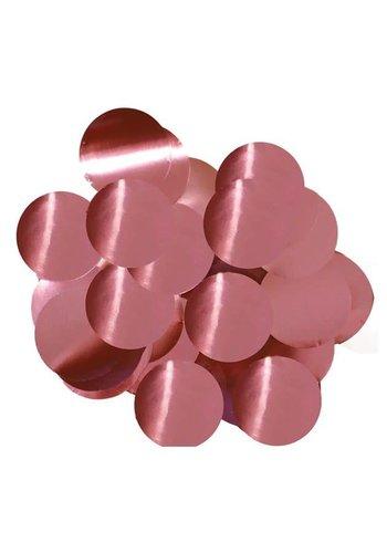 Confetti metaalfolie - Roze - 14 gr - Ø25 mm