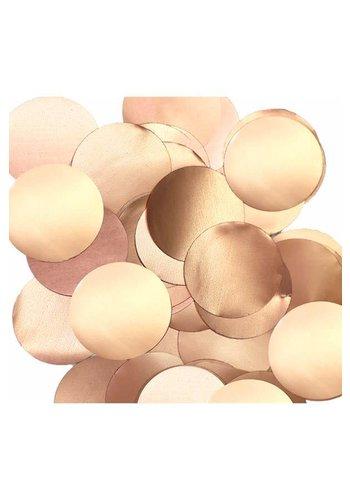 Confetti metaalfolie - Rose Gold - 14 gr - Ø25 mm