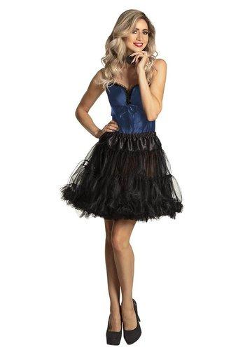 Petticoat Deluxe - Lang - Zwart