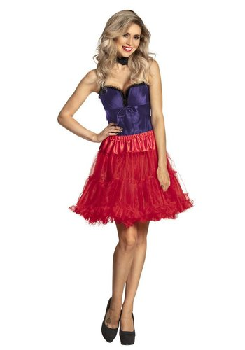 Petticoat Deluxe - Lang - Rood