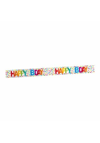 Markeerlint Rainbow Dots Happy Birthday - 15Mtr