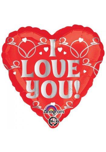 Folieballon I Love You - 45cm
