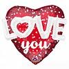 Anagram Folieballon 3D Love Hearts & Dots - 91x91cm