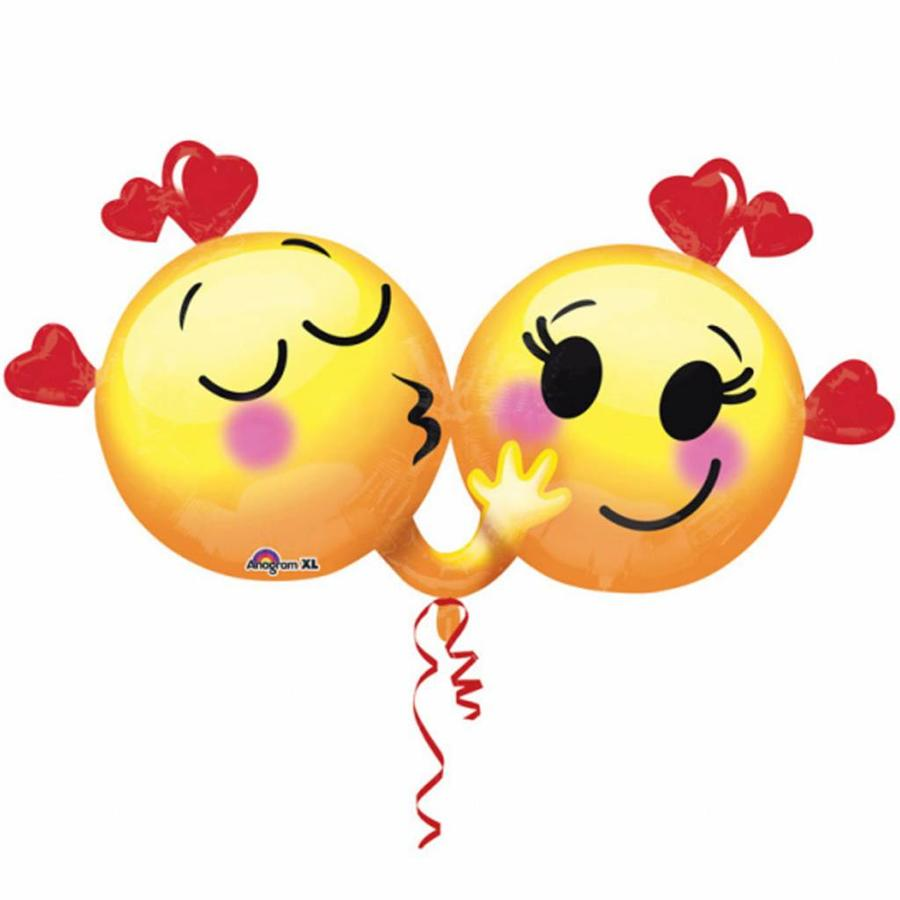 Folieballon Emoticons in Love - 91x53cm-1