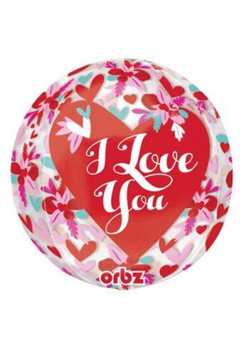 Orbz I Love You Flowers - 38 x 40cm