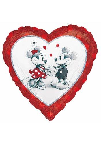 Folieballon Mickey & Minnie Love - 35cm