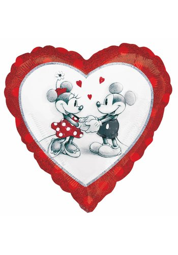 Folieballon Mickey & Minnie Love - 45cm