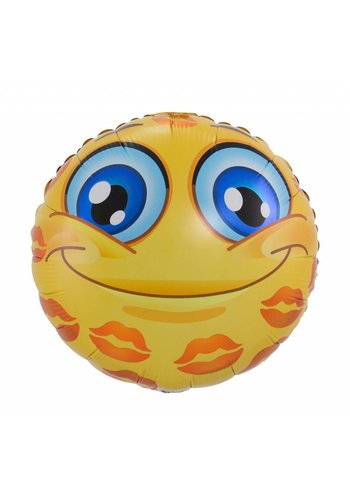 Smiley Lips Folieballon - 45cm