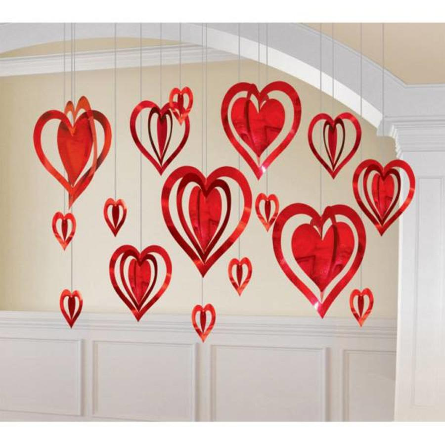 3D Heart Decoration Kit -16 stuks - 9 tot 30cm-1