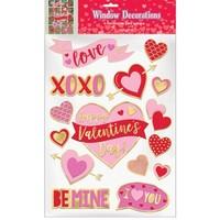 15 Raam Stickers - Valentine's Day