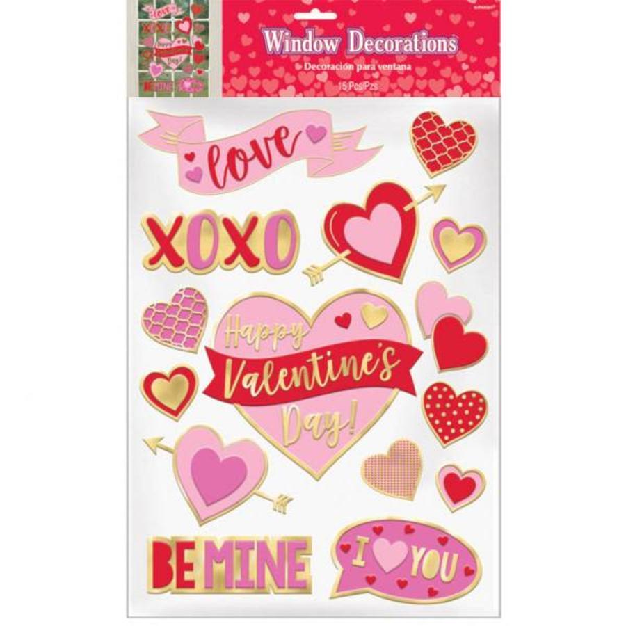 15 Raam Stickers - Valentine's Day-1