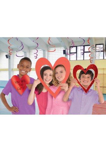 3 Photo Props Heart - 47cm, 33cm, 23cm