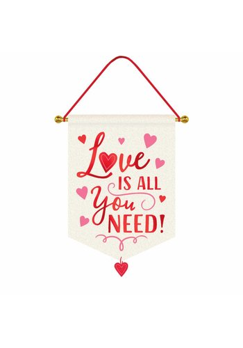 Sign Hanging - 'All You Need Is Love' - Canvas