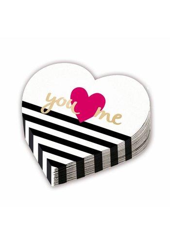 Servetten Heart Shaped Everyday Love - 32cm - 12 st